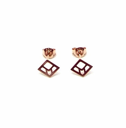You & Me Staple Studs - Rose Gold
