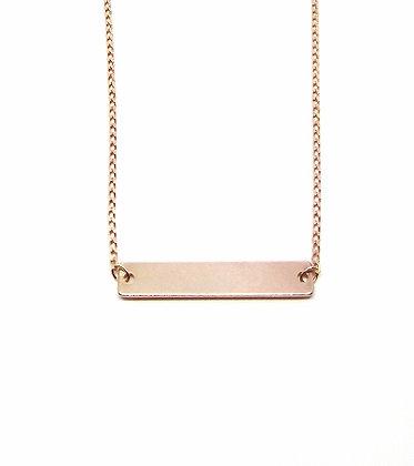 Bar Necklace - Rose Gold