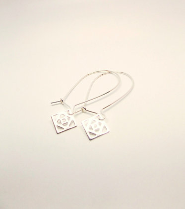 Conundrum Earrings - Silver