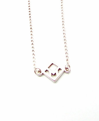 You & Me Staple Necklace - Silver
