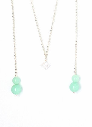 You & Me Lariat Necklace - Sky