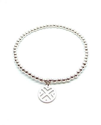 Ziva Ball Bracelet - Silver