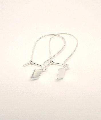 You & Me Diamond Earrings - Silver