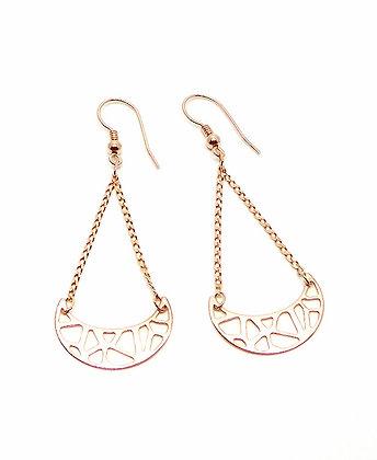 Crescent Earrings - Rose Gold