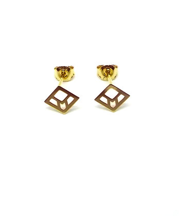 You & Me Staple Studs - Gold