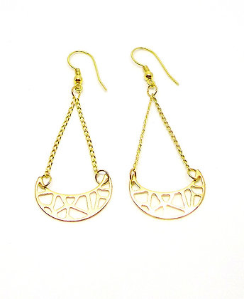 Crescent Earrings - Gold