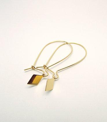 You & Me Diamond Earrings - Gold