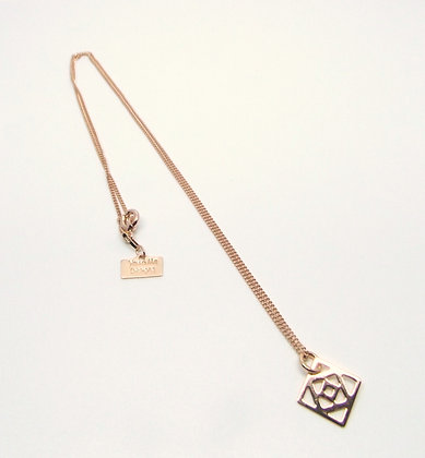 Rose Gold Conundrum Necklace