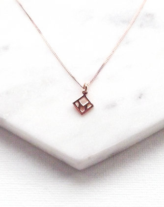 You & Me Tag Necklace - Rose