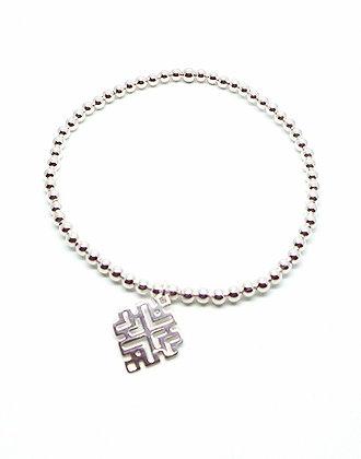 Junita Ball Bracelet - Silver
