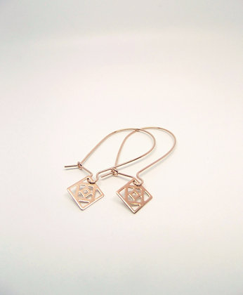 Conundrum Earrings - Rose Gold