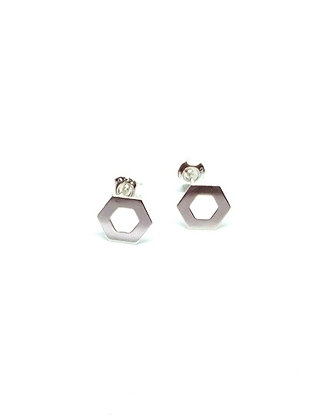 Helix Studs - Silver