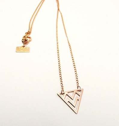 Rose Gold Prism Necklace