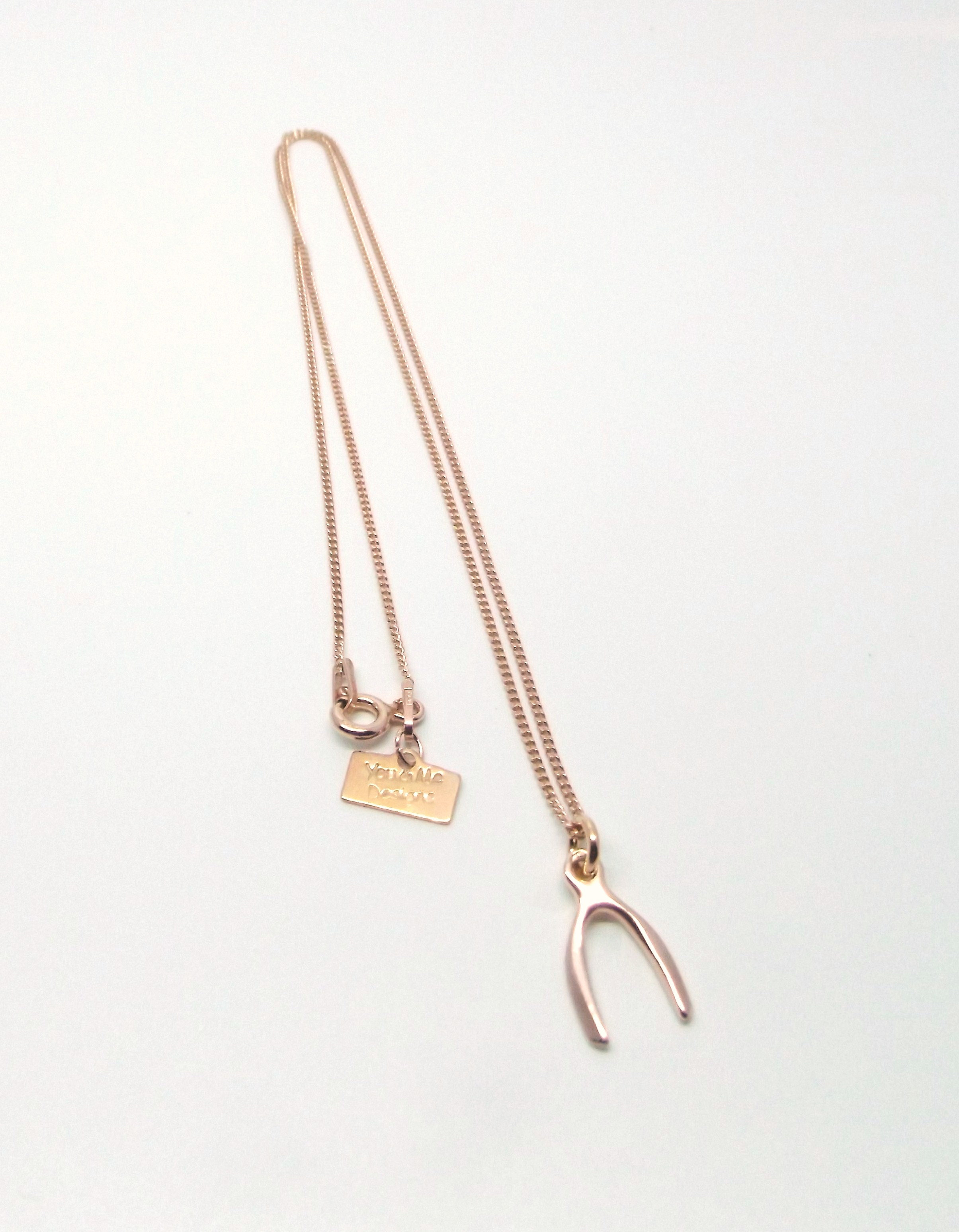 6062876b06754 Rose Gold Wishbone Necklace | you-and-me-designs