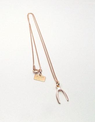 Rose Gold Wishbone Necklace