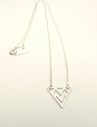 Silver Prism Necklace