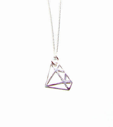 Diamond Necklace - Silver