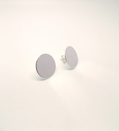 Disk Studs - Silver