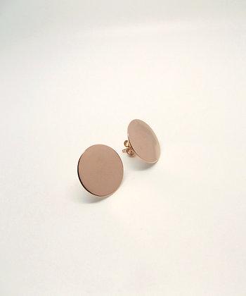 Disk Studs - Rose Gold