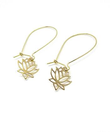Lotus Earrings - Gold