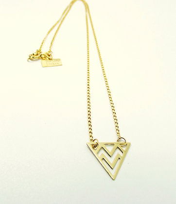 Gold Prism Necklace