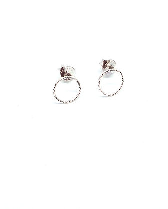 Silver Rope Studs - Circle