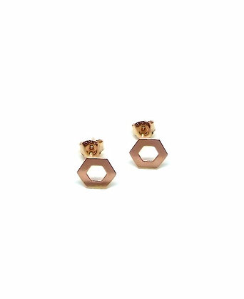 Helix Studs - Rose Gold