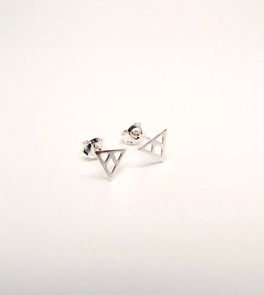 Prism Studs - Silver