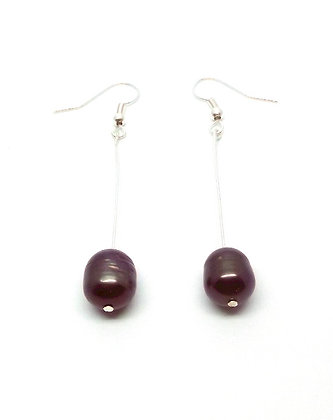 Maree Pearl Earrings - Black