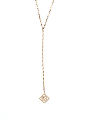 Conundrum Lariat - Rose Gold
