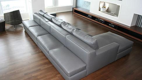 italian leather sectional burlington maison luxe canada