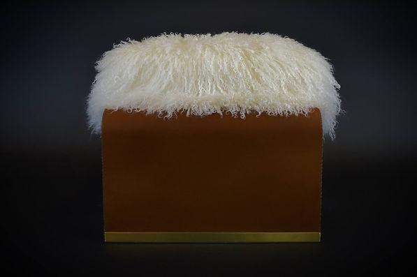 Designer Puff Leather Maison Luxe Canada