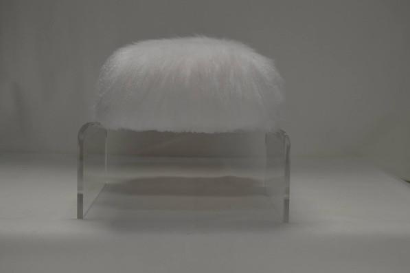 Designer Puff Acrylic Maison Luxe Canada