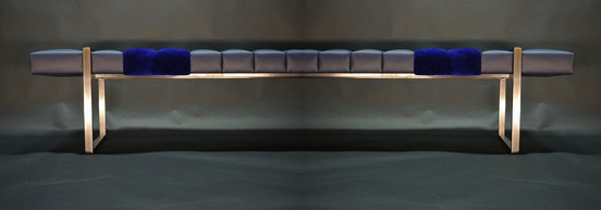 Designer Custom Leather Bench Maison Luxe Canada