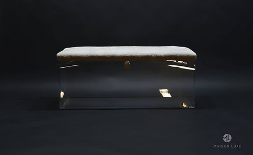 Designer Furniture Custom Storage Bench Ottoman Maison Luxe Canada