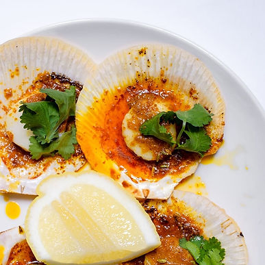 Hervey Bay half scallops in Spiced Citrus Butter