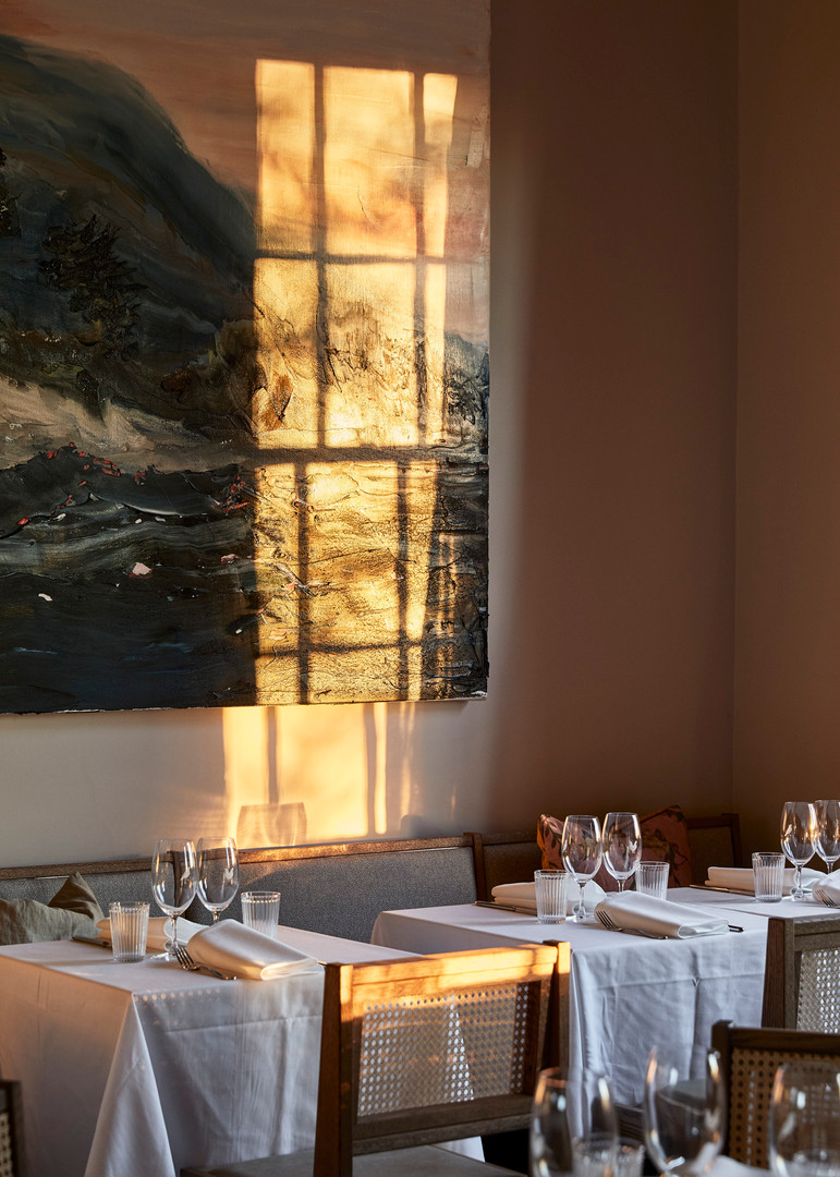 Golden hour in the dining room