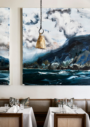 Dining room featuring Paul Ryan artwork