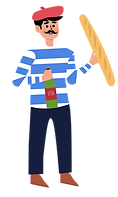 Minimalist-Flat-Character-France-Wine-Ma