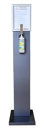 Hygieneaufsteller mit Dispenser + Wechselrahmen A4