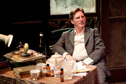 Adrian Dunbar from Line of Duty acting in the Lyric Theatre Belfast