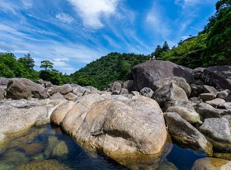 縄文登山と安房川