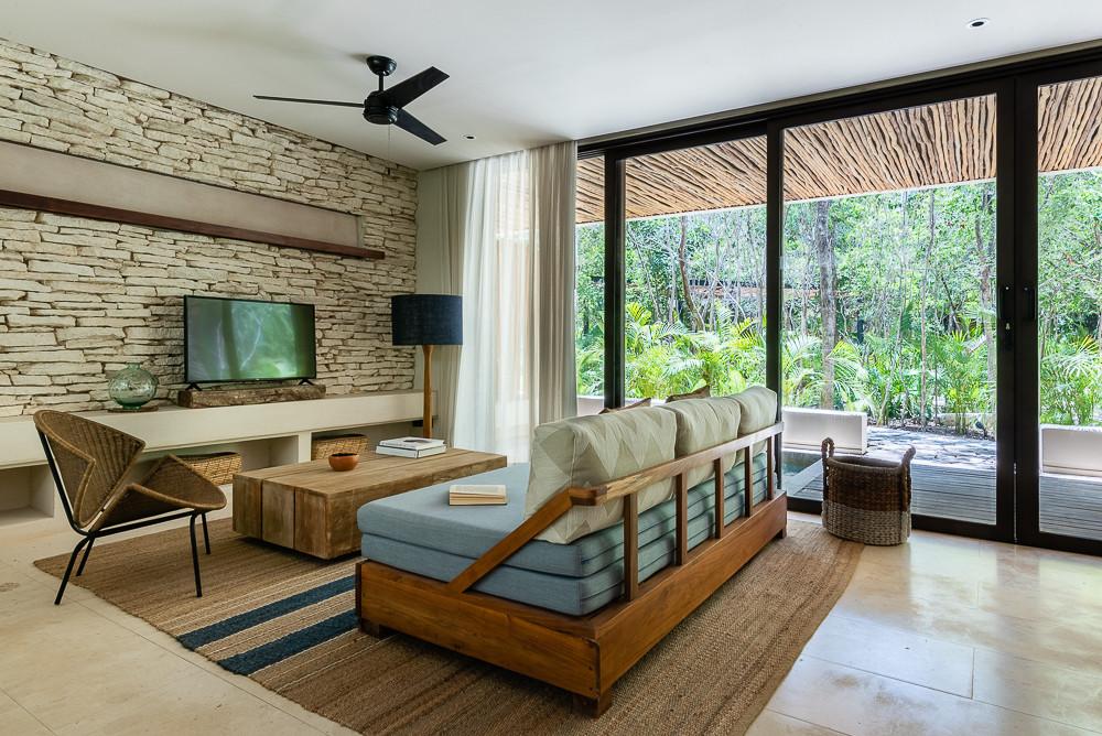 Copal Tulum Sala y Terraza