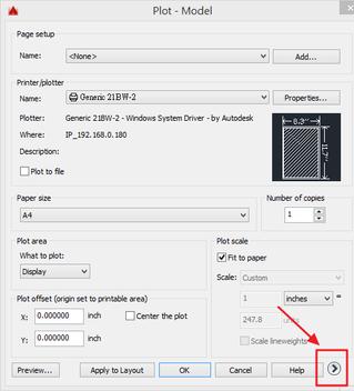 AutoCAD-把彩色圖檔出圖成清楚的黑白檔