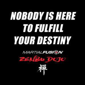 NOBODY IS HERE TO FULFILL YOUR DESTINY