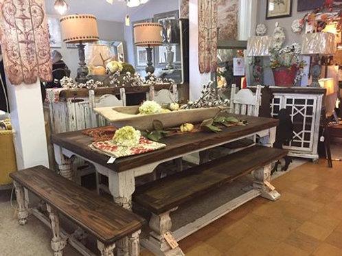 6ft Farm Leg Dining Table