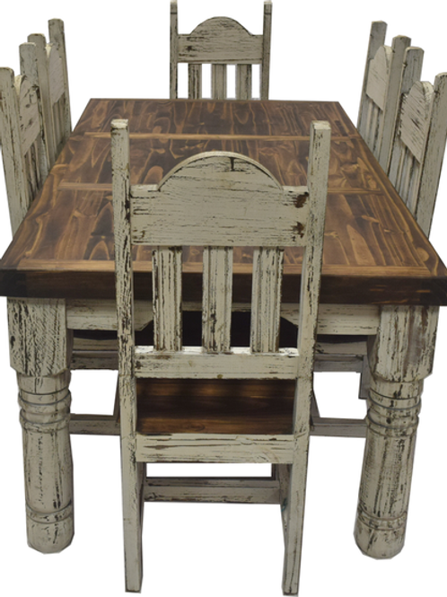 7ft Farm Leg Dining Table