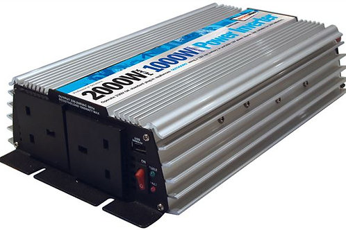 1000W 2000W Peak Power Inverter 12V Car Battery to AC Adapter 230V