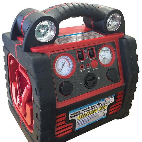 12v portable power pack booster emergency jump start air compressor inverter usb