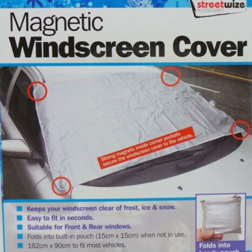 Car windscreen frost screen protector + MAGNETIC winter ice snow small van glass